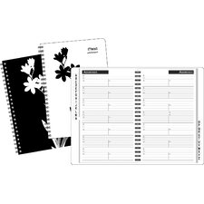 Floral Silhouette Address Book