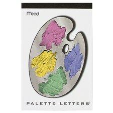 """6"""" x 9"""" Color Palette Letters Fashion Tablet"""