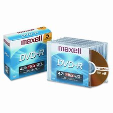 DVD-R Disc, 4.7GB, 16x (Set of 4)
