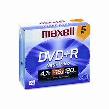Dvd+R Discs, 4.7Gb, 16X, 5/Pack (Set of 2)