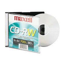 Branded Surface Cd-Rw, 700Mb/80Min, 4X (Set of 4)