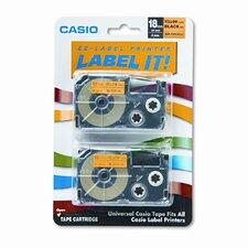 Tape Cassettes for Kl Label Makers, 18Mm X 26Ft, 2/Pack