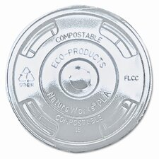 Compostable Cold Drink Cup Lids, Flat, 1000/Carton
