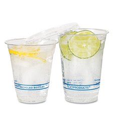 Bluestripe Recycled Content Cold Drink Cups, 12Oz, 1000/Carton