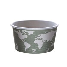World Art PLA-Lined 16oz Soup Containers in Gray / White