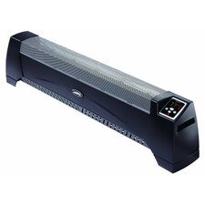 Silent 1,500 Watt Wall Mounted Electric Convection Baseboard Heater with Thermostat