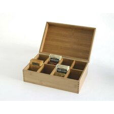 Bamboo 8-Compartment Tea Box