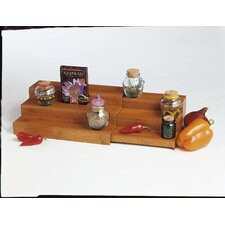 Bamboo Expandable Triple Step Spice Shelf