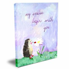 Words of Wisdom My Smiles Begin with You Canvas Art