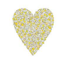 Lotsa Alphabet Art Heart Chicks Paper Print