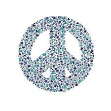 Lotsa Alphabet Art Peace Penguins Paper Print