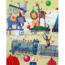 Wit & Whimsy Circus Train Canvas Art