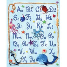 Nautical Alphabet Rope Paper Print