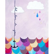 Nautical Let Love Be Your Anchor Giclée Canvas Art