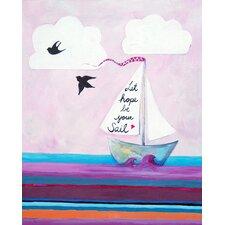 Nautical Let Hope Be Your Sail Giclée Canvas Art