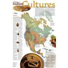 North American Indian Cultures Poster Map