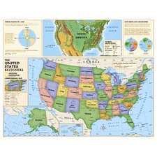 Kids Beginners USA Wall Map (Grades K-3)