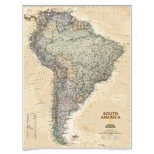 South America Executive Wall Map