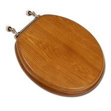 Decorative Front Wood Round Toilet Seat