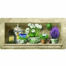 Cushion Comfort Herb Floral Kitchen Mat