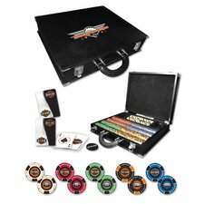 H-D Professional Leather Poker Set