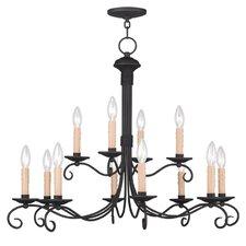 Heritage 12 Light Candle Chandelier