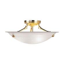Light Semi Flush Mount in Polished Brass