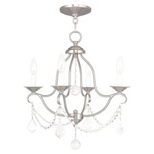 Liza 4-Light Chandelier in Brushed Nickel