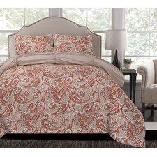Umber Reversible Microfiber Comforter Set