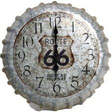 "Springfield 14.2"" Route 66 Bottle Cap Clock"