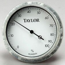 Galvanized Bezel Hygrometer