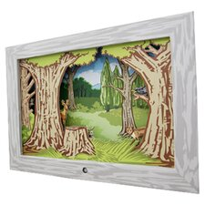 Woodland Diorama Scene Framed Art