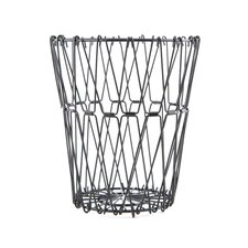 Folding Wire Basket in Black