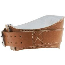 "6"" Power Leather Lifting Belt in Natural Leather"