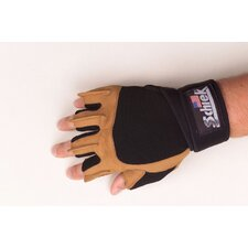 Power Gel Gloves with Wrist Wraps in Tan & Black