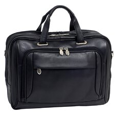 I Series West Loop Leather Laptop Briefcase
