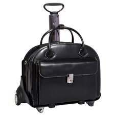 W Series Glen Ellyn Leather Laptop Briefcase