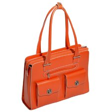 W Series Verona Leather Laptop Briefcase
