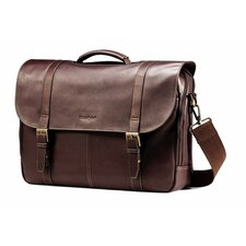 "Business Colombian 16"" Leather Laptop Briefcase"
