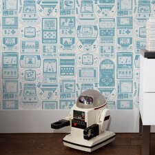 Kiki Gameland 15' x 28'' Wallpaper (Set of 2)