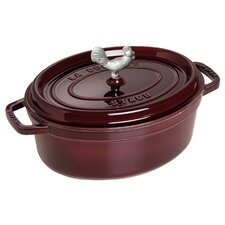 Coq au Vin Cast Iron Oval Cocotte with Lid