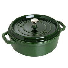 Cast Iron Shallow Wide Round Cocotte with Lid
