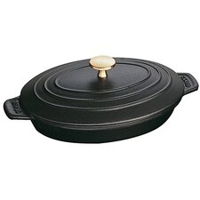 1 Qt. Cast Iron Oval Braiser with Lid