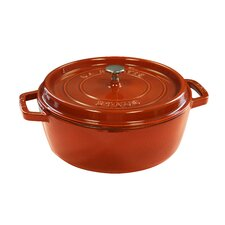 Cast Iron Wide Round Shallow Cocotte