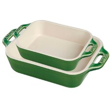 2 Piece Ceramic Rectangular Baking Dish Set