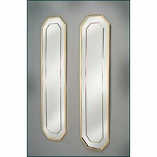 Framed Octagonal Mirror Plaque (Set of 2)