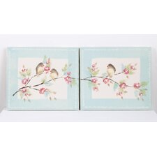 2 Piece Tea Party Canvas Art Set