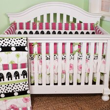 Hottsie Dottsie 4 Piece Crib Bedding Set