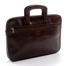 Italico Genoa Leather Laptop Briefcase