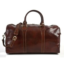 "Amato 20"" Itallian Leather Weekender Duffel"